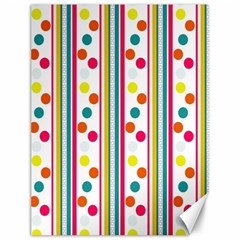 Stripes And Polka Dots Colorful Pattern Wallpaper Background Canvas 12  X 16