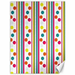 Stripes And Polka Dots Colorful Pattern Wallpaper Background Canvas 36  x 48