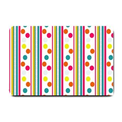 Stripes And Polka Dots Colorful Pattern Wallpaper Background Small Doormat