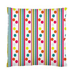 Stripes And Polka Dots Colorful Pattern Wallpaper Background Standard Cushion Case (Two Sides)