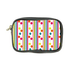 Stripes And Polka Dots Colorful Pattern Wallpaper Background Coin Purse