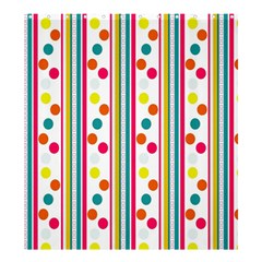 Stripes And Polka Dots Colorful Pattern Wallpaper Background Shower Curtain 66  x 72  (Large)