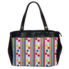 Stripes And Polka Dots Colorful Pattern Wallpaper Background Office Handbags