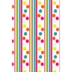 Stripes And Polka Dots Colorful Pattern Wallpaper Background 5.5  x 8.5  Notebooks