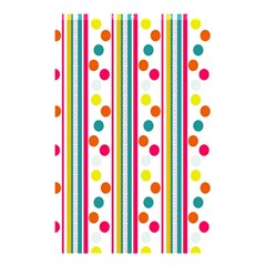 Stripes And Polka Dots Colorful Pattern Wallpaper Background Shower Curtain 48  X 72  (small)