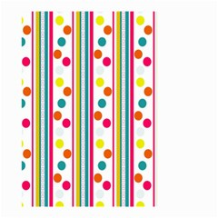 Stripes And Polka Dots Colorful Pattern Wallpaper Background Small Garden Flag (two Sides)