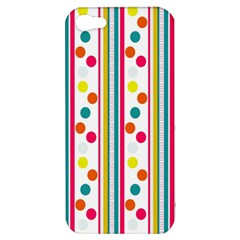 Stripes And Polka Dots Colorful Pattern Wallpaper Background Apple iPhone 5 Hardshell Case
