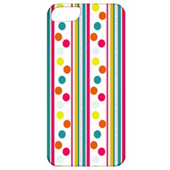 Stripes And Polka Dots Colorful Pattern Wallpaper Background Apple iPhone 5 Classic Hardshell Case