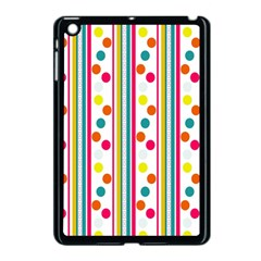 Stripes And Polka Dots Colorful Pattern Wallpaper Background Apple Ipad Mini Case (black)
