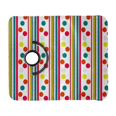 Stripes And Polka Dots Colorful Pattern Wallpaper Background Galaxy S3 (Flip/Folio)