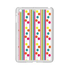 Stripes And Polka Dots Colorful Pattern Wallpaper Background Ipad Mini 2 Enamel Coated Cases