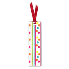 Stripes And Polka Dots Colorful Pattern Wallpaper Background Small Book Marks