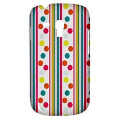 Stripes And Polka Dots Colorful Pattern Wallpaper Background Galaxy S3 Mini