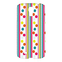 Stripes And Polka Dots Colorful Pattern Wallpaper Background Samsung Galaxy S4 I9500/i9505 Hardshell Case
