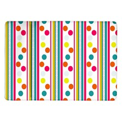 Stripes And Polka Dots Colorful Pattern Wallpaper Background Samsung Galaxy Tab 10.1  P7500 Flip Case