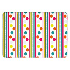 Stripes And Polka Dots Colorful Pattern Wallpaper Background Samsung Galaxy Tab 8 9  P7300 Flip Case