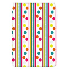 Stripes And Polka Dots Colorful Pattern Wallpaper Background Flap Covers (l)