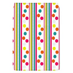 Stripes And Polka Dots Colorful Pattern Wallpaper Background Flap Covers (S)
