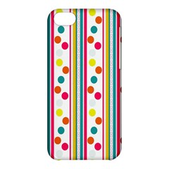 Stripes And Polka Dots Colorful Pattern Wallpaper Background Apple Iphone 5c Hardshell Case