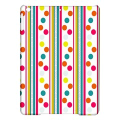 Stripes And Polka Dots Colorful Pattern Wallpaper Background iPad Air Hardshell Cases