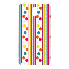 Stripes And Polka Dots Colorful Pattern Wallpaper Background Samsung Galaxy Note 3 N9005 Hardshell Back Case