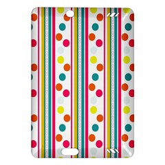 Stripes And Polka Dots Colorful Pattern Wallpaper Background Amazon Kindle Fire Hd (2013) Hardshell Case