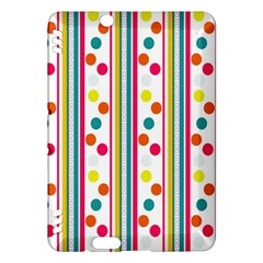 Stripes And Polka Dots Colorful Pattern Wallpaper Background Kindle Fire Hdx Hardshell Case