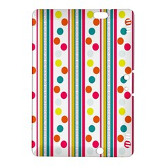 Stripes And Polka Dots Colorful Pattern Wallpaper Background Kindle Fire Hdx 8 9  Hardshell Case