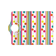 Stripes And Polka Dots Colorful Pattern Wallpaper Background Kindle Fire Hd (2013) Flip 360 Case