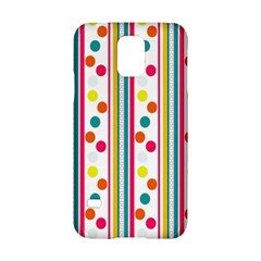 Stripes And Polka Dots Colorful Pattern Wallpaper Background Samsung Galaxy S5 Hardshell Case