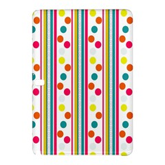 Stripes And Polka Dots Colorful Pattern Wallpaper Background Samsung Galaxy Tab Pro 10 1 Hardshell Case