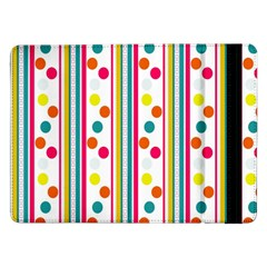 Stripes And Polka Dots Colorful Pattern Wallpaper Background Samsung Galaxy Tab Pro 12.2  Flip Case