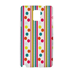 Stripes And Polka Dots Colorful Pattern Wallpaper Background Samsung Galaxy Note 4 Hardshell Case