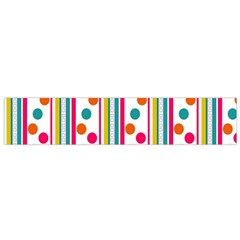 Stripes And Polka Dots Colorful Pattern Wallpaper Background Flano Scarf (small)