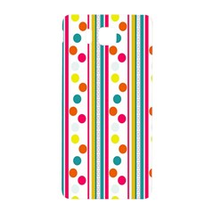 Stripes And Polka Dots Colorful Pattern Wallpaper Background Samsung Galaxy Alpha Hardshell Back Case