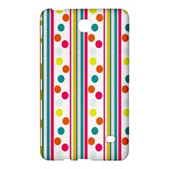 Stripes And Polka Dots Colorful Pattern Wallpaper Background Samsung Galaxy Tab 4 (7 ) Hardshell Case