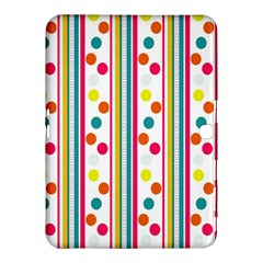 Stripes And Polka Dots Colorful Pattern Wallpaper Background Samsung Galaxy Tab 4 (10 1 ) Hardshell Case