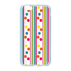 Stripes And Polka Dots Colorful Pattern Wallpaper Background Apple Seamless iPhone 6/6S Case (Color)