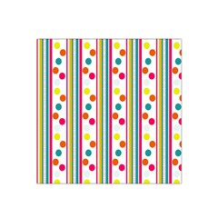 Stripes And Polka Dots Colorful Pattern Wallpaper Background Satin Bandana Scarf