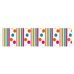 Stripes And Polka Dots Colorful Pattern Wallpaper Background Satin Scarf (oblong)