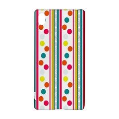 Stripes And Polka Dots Colorful Pattern Wallpaper Background Sony Xperia Z3+
