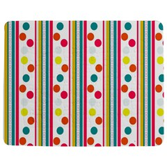 Stripes And Polka Dots Colorful Pattern Wallpaper Background Jigsaw Puzzle Photo Stand (Rectangular)