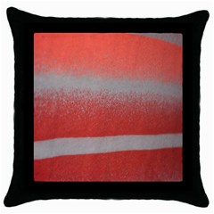 Orange Stripes Colorful Background Textile Cotton Cloth Pattern Stripes Colorful Orange Neo Throw Pillow Case (Black)