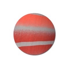 Orange Stripes Colorful Background Textile Cotton Cloth Pattern Stripes Colorful Orange Neo Magnet 3  (round)