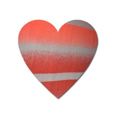 Orange Stripes Colorful Background Textile Cotton Cloth Pattern Stripes Colorful Orange Neo Heart Magnet