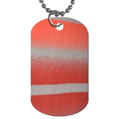Orange Stripes Colorful Background Textile Cotton Cloth Pattern Stripes Colorful Orange Neo Dog Tag (Two Sides)