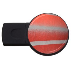 Orange Stripes Colorful Background Textile Cotton Cloth Pattern Stripes Colorful Orange Neo USB Flash Drive Round (1 GB)
