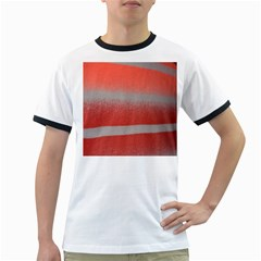 Orange Stripes Colorful Background Textile Cotton Cloth Pattern Stripes Colorful Orange Neo Ringer T Shirts