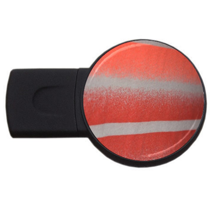 Orange Stripes Colorful Background Textile Cotton Cloth Pattern Stripes Colorful Orange Neo USB Flash Drive Round (4 GB)