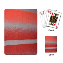 Orange Stripes Colorful Background Textile Cotton Cloth Pattern Stripes Colorful Orange Neo Playing Card